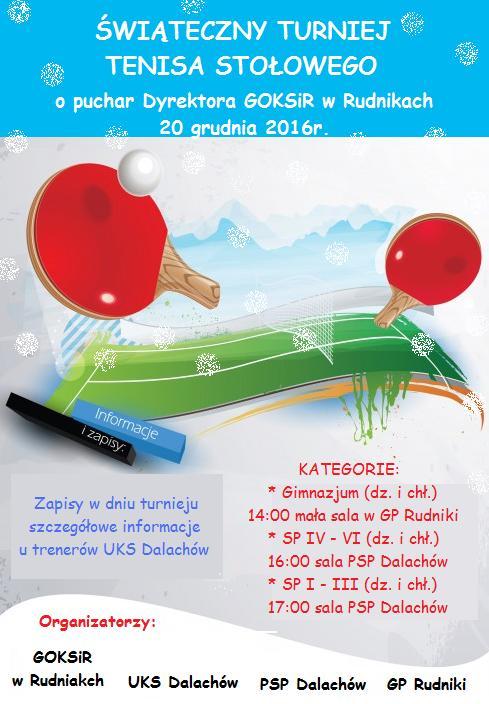 Świąteczny Turniej Tenisa Stołowego - UKS Dalachóow.jpeg