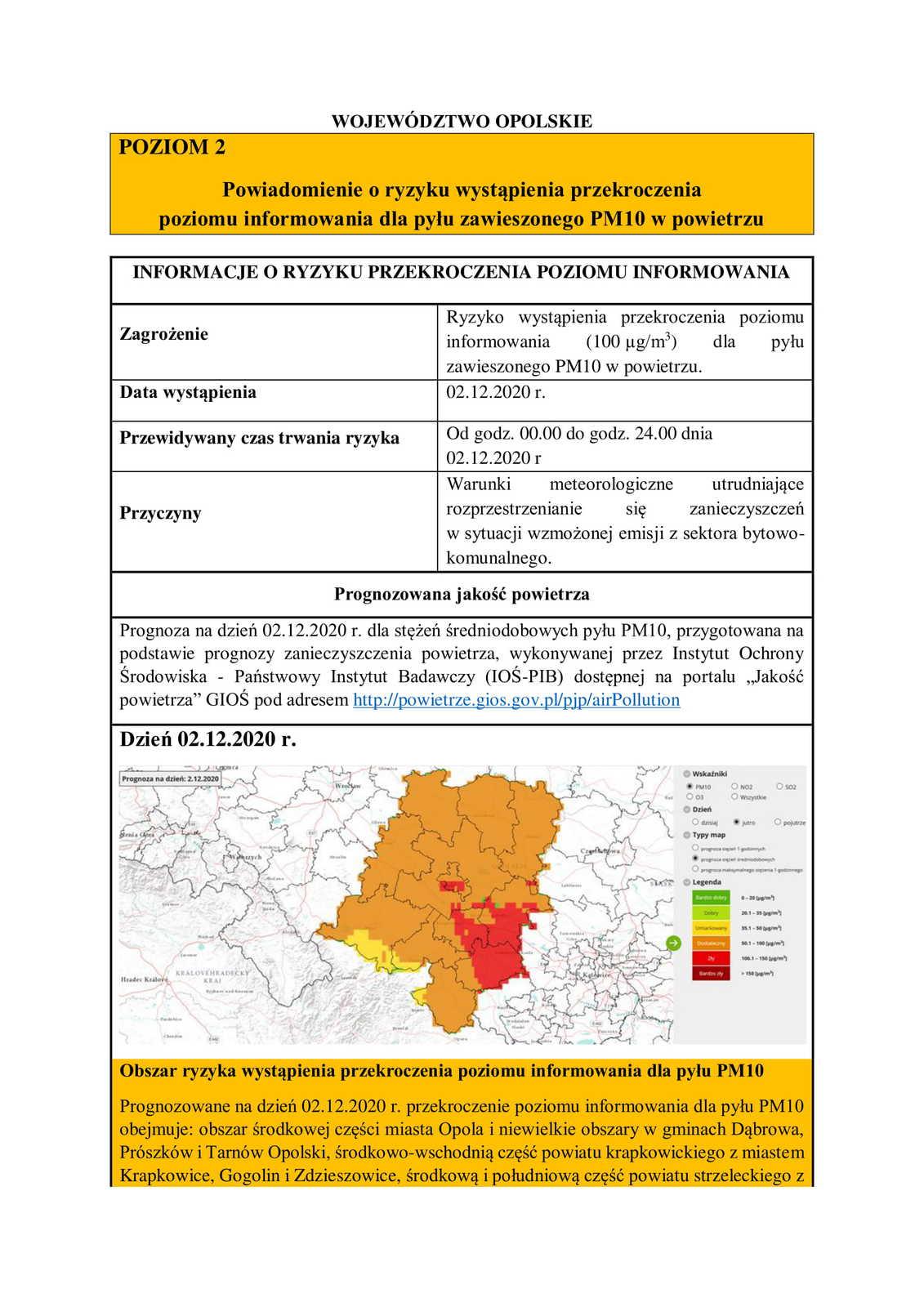 Powiadomienie o ryzyku wystąpienia przekroczenia poziomu informowania dla pyłu zawieszonego PM10 w powietrzu-1.jpeg