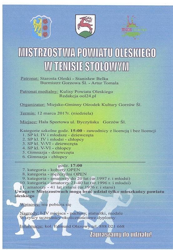Mistrzostwa Powiatu Oleskiego w Tenisie Sołowym..jpeg