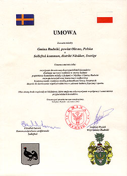 Umowa partnerska ze szwedzką gminą Solleftea