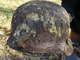 Żołnierski hełm znaleziony przy szczątkach