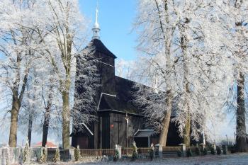 Kościół w Jaworznie w zimowej odsłonie