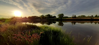 Wiosna nad zalewem - Sołectwo Młyny