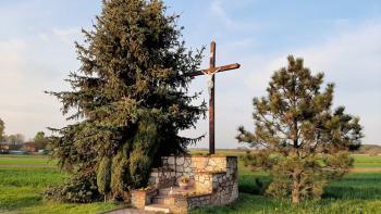 Krzyż przydrożny w Kuźnicy